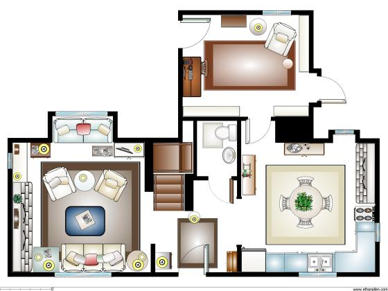 Iris House Plan 1st FLoor