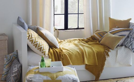 west elm bedroom yellow