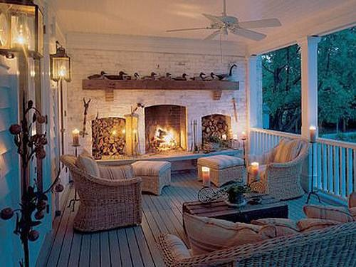 porch fireplace