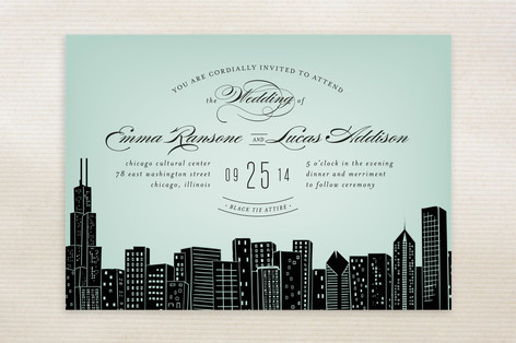 Big City Wedding Invite from Minted.com