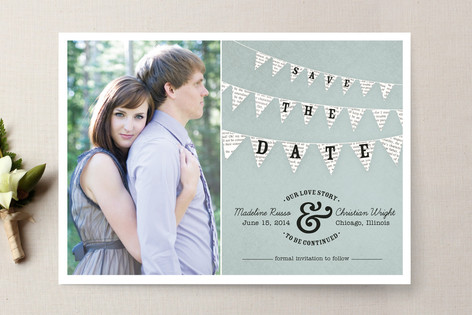 Love Story Save the Date from Minted.com