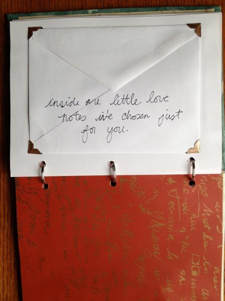 envelope book page
