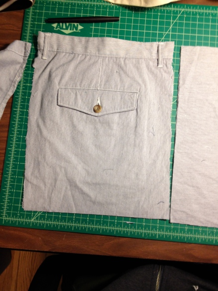 shorts pocket before
