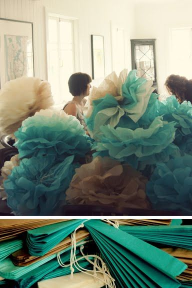 blue poofs
