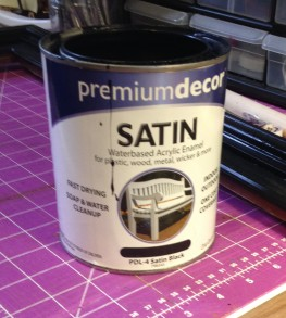 Black satin paint for frame project