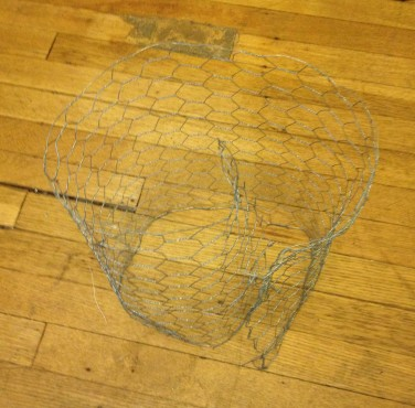 Chicken wire for frame