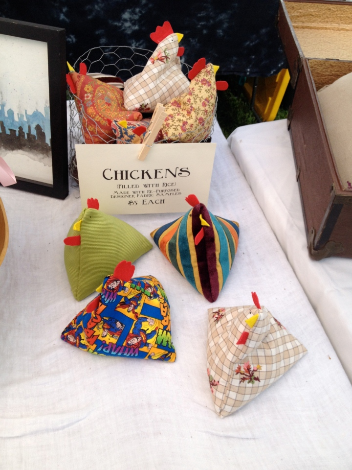 chickens at the booth