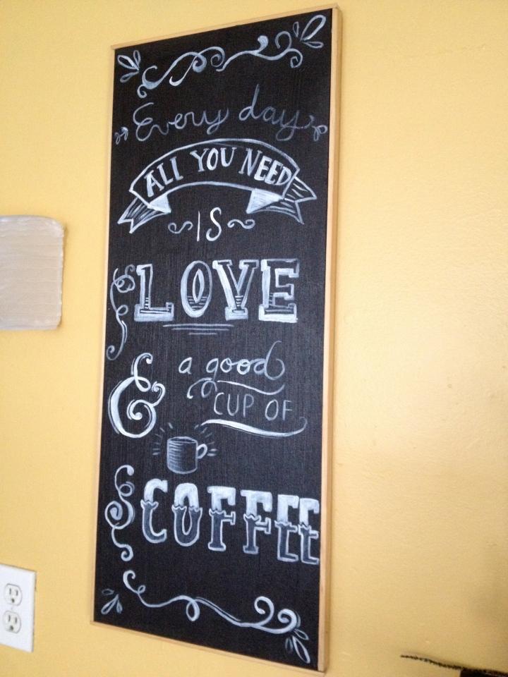 framed chalkboard pic