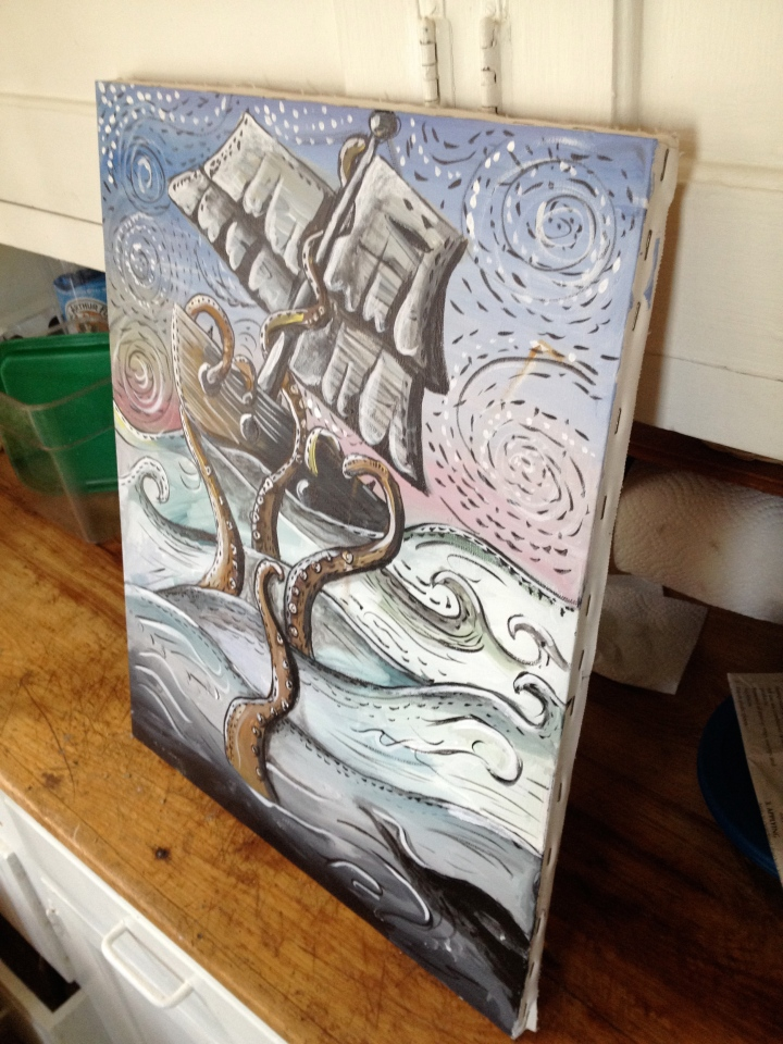 unframed boat picture