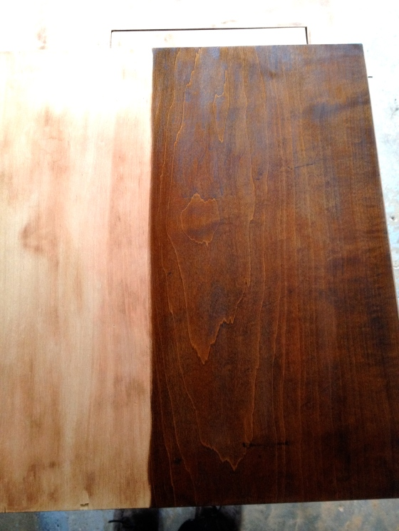 Table with new stain
