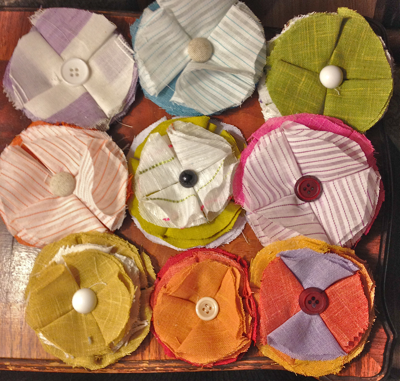 Diy fabric flower bouquet verbena fabric flowers 4 izmirmasajfo