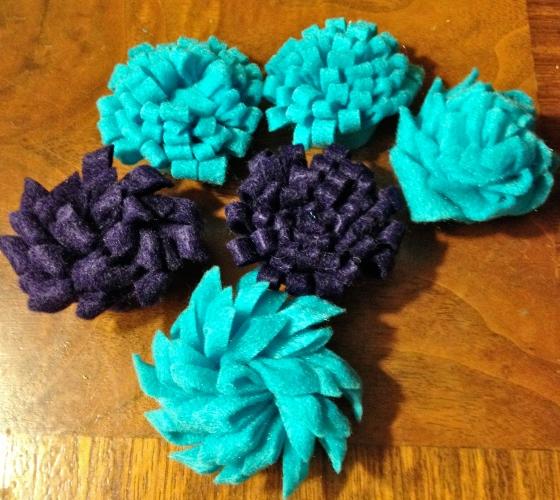 fabric flowers felt