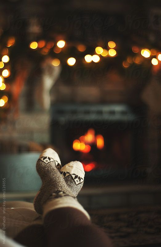 Socks and the Fireplace.