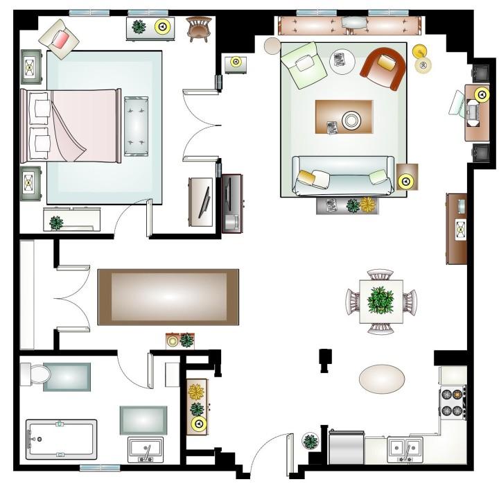 27 Dresses Floor plan