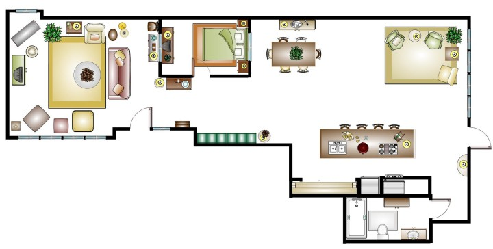 floor plan Milly's Loft