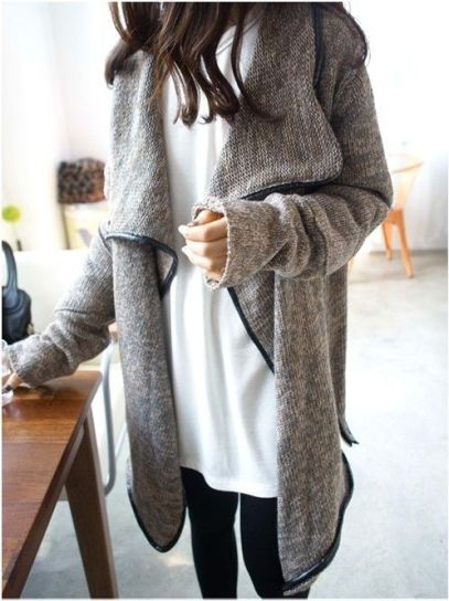 large cardigan gray